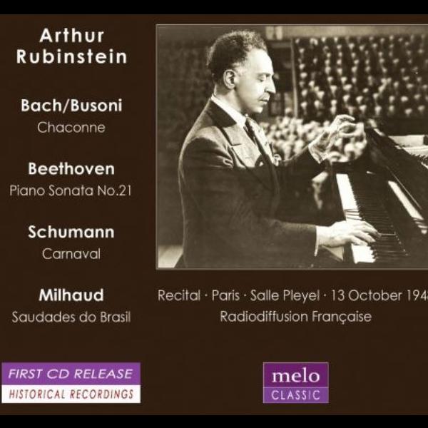 Pierwszy powojenny recital Artura Rubinsteina w Paryżu - melo classic cover
